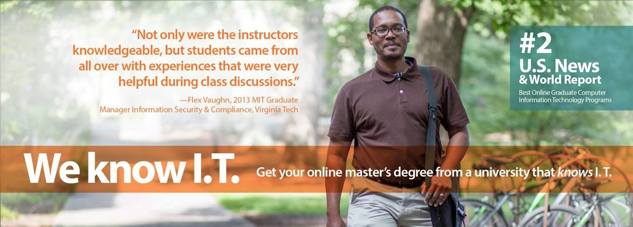 Image of Vaughn and quote for VT MIT