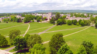Aerial view of Virginia Tech Drillfield