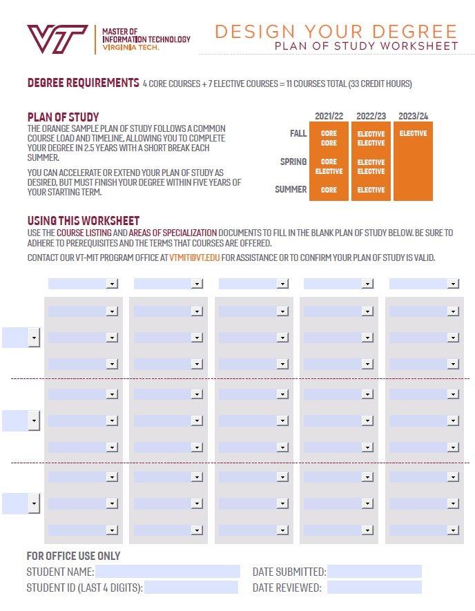 Vt Academic Calendar 2022 23.Plan Your Study Online Master Of Information Technology Virginia Tech